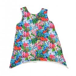 robe originale fleurs coton bio fille