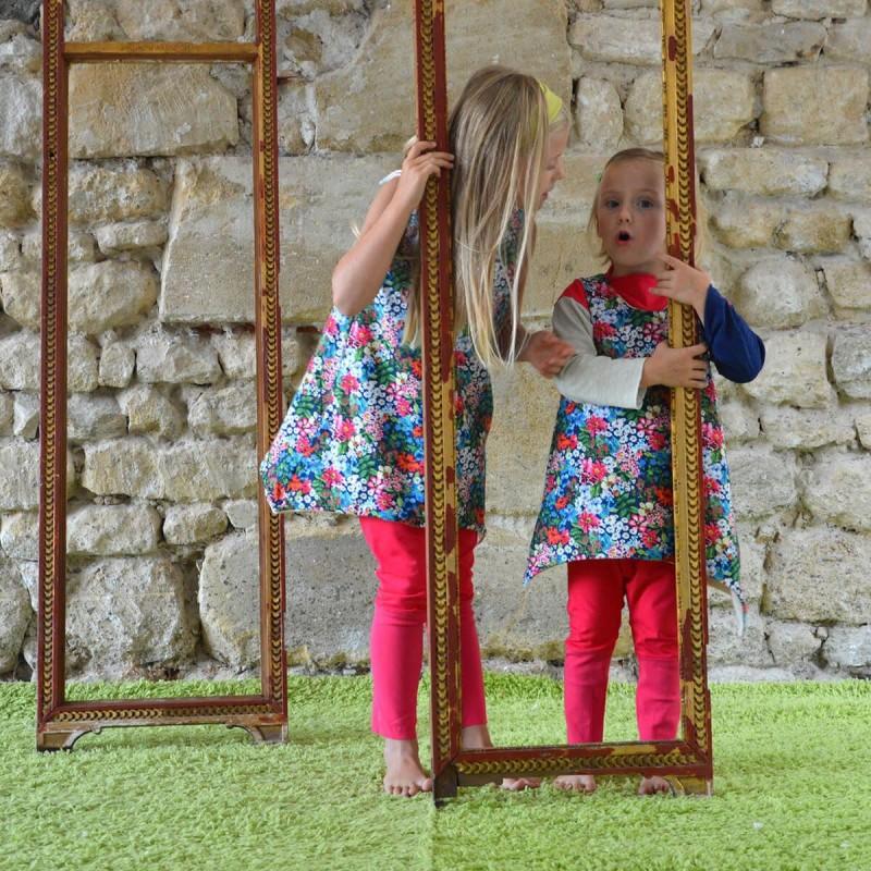 robe fleurie pour filles en coton bio évolutive et réversible