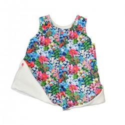 robe reversible coton bio fleurs fille