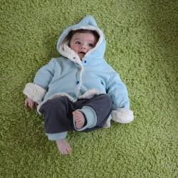 veste toute douce réversible en moumoute coton bio