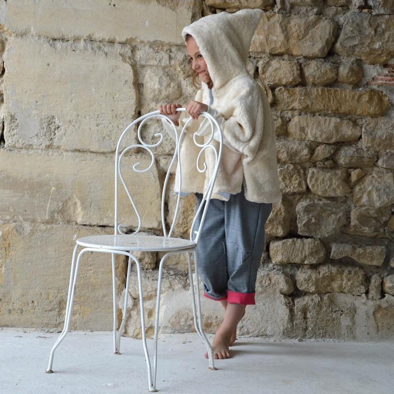poncho fille evolutif reversible coton bio
