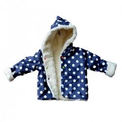 veste de pluie doublee pois bleu