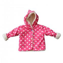 veste de pluie rose fuchsia bebe fille coton bio
