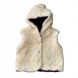 veste coton bio sans manches bleu marine