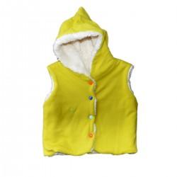 veste reversible a& capuchon sans manches vert coton bio