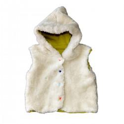 veste enfant sans manches capuchon lutin coton bio