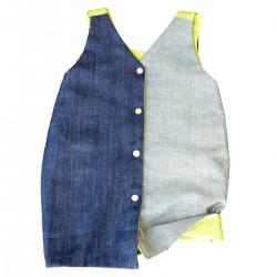 robe jean reversible coton bio vert