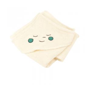 cape de bain drôle de tête coton bio