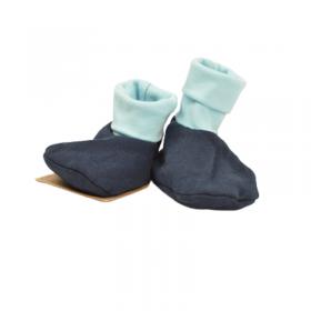 Chaussons bébé en molleton bio