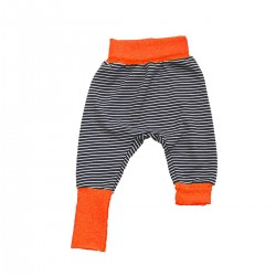 sarouel evolutif bebe rayures bleu orange