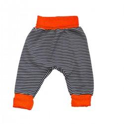 sarouel coton bio rayures taille orange