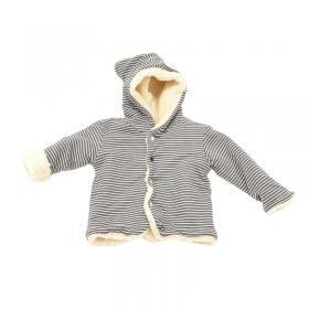 veste teddy moumoute rayé confectionné en France
