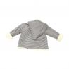 veste à rayure moutarde et blanche réversible et évolutive pour filles et garçons