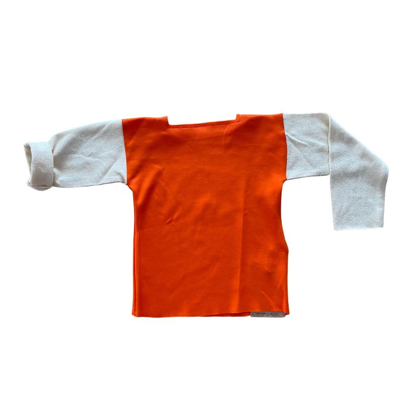t-shirt enfant made in France orange Little Woude