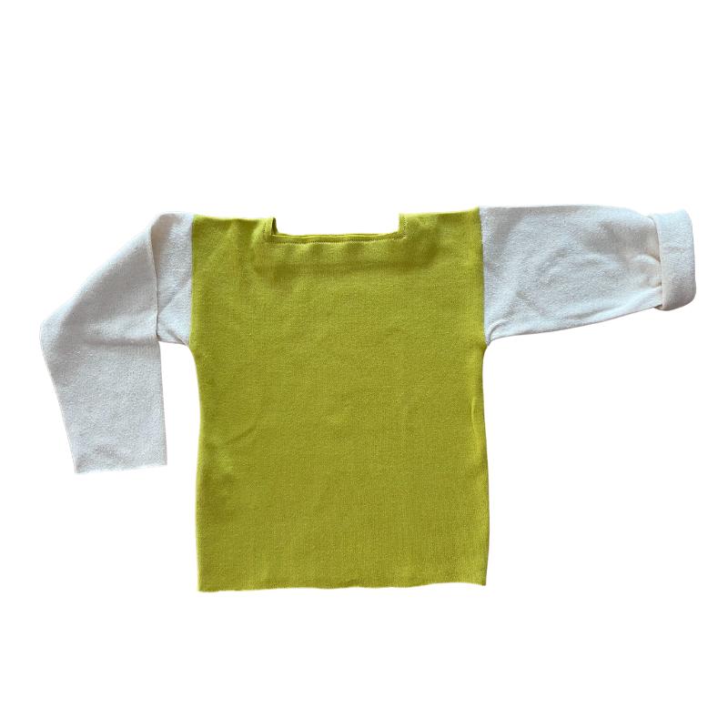 t-shirt enfant manches courtes vert bleu made in france