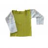t-shirt manches longues vert bleu coton bio chanvre