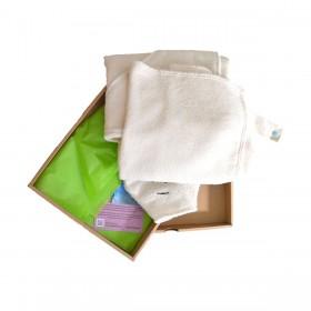 coffret cape de bain et gant de toilette coton bio