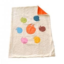 couverture originale multicolore doublure orange