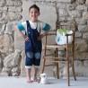 salopette evolutive en jean coton bio garçon 5 ans