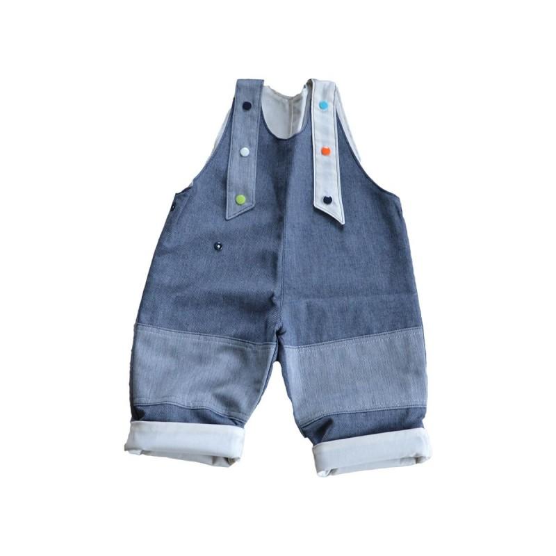 salopette jean ecru coton bio bebe enfant
