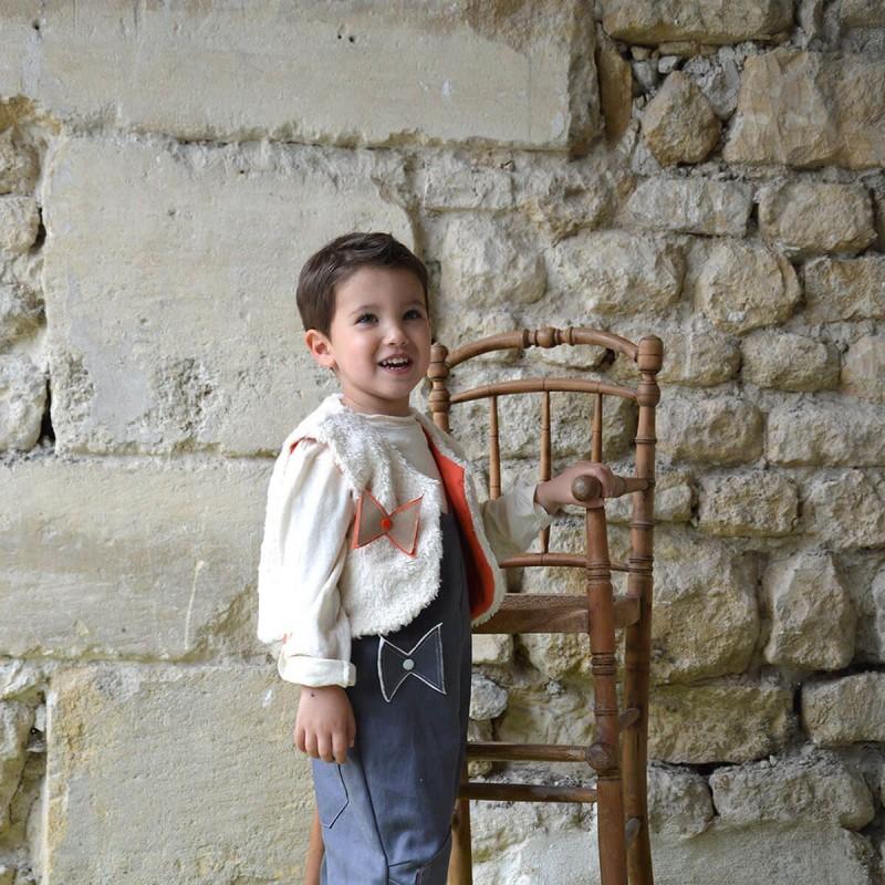 gilet du berger coton bio reversible enfant