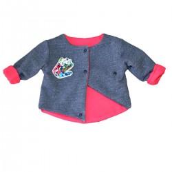 gielt bebe original reversible coton bio bleu fuchsia