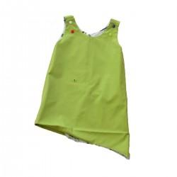 robe reversible vert fille coton bio