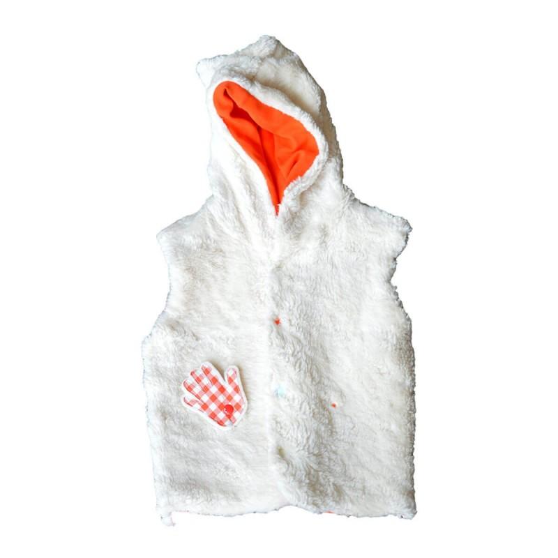 veste sans manches revrsible coton bio