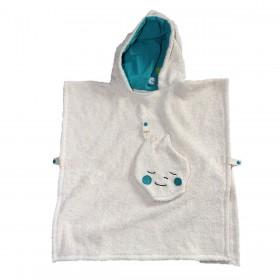 poncho de bain serviette de plage coton bio enfant