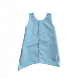 robe reversible bleu ciel coton bio