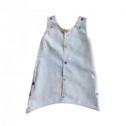 robe reversible bebe ecru coton bio