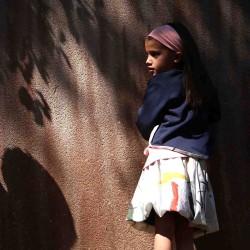 jupe evolutive enfant traits abstraits coton bio