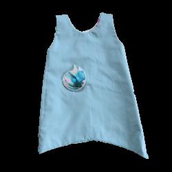 robe reversible fille bleu ciel