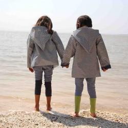 veste imperméable dans un coton bio laminé