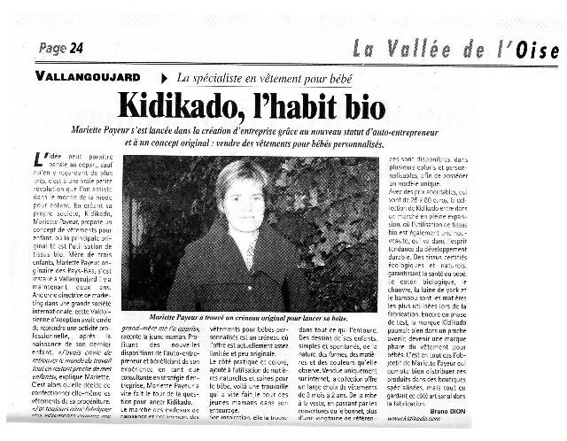 la gazette du val d'oise aprle de kidikado 2010